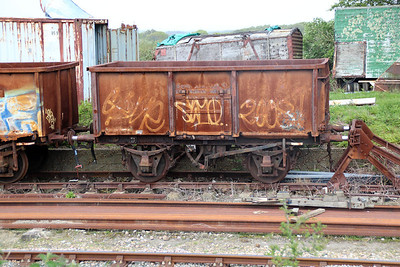 16t Steel Mineral Open B160073 at Eldon Sidings  10/05/14.
