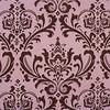Pink / Brown Damask
