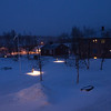 This is the view from our room at Abisko.
