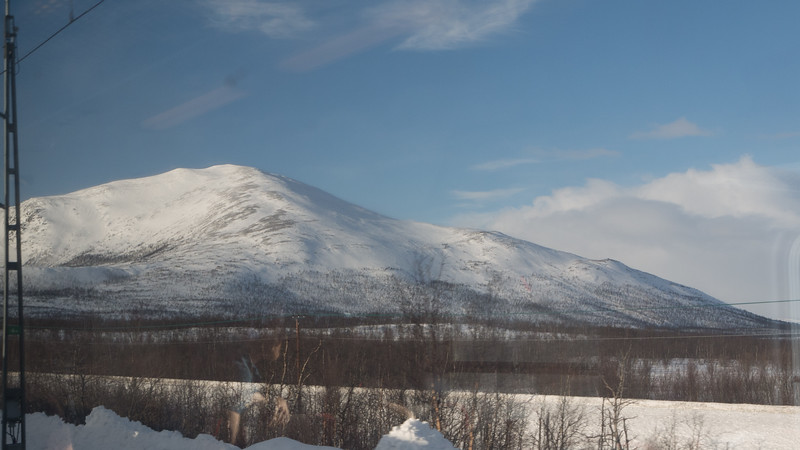 Taking a train to Abisko