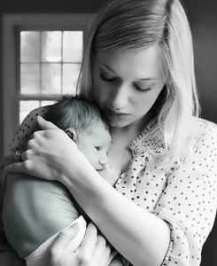 Mother and Baby bw (1 of 1)