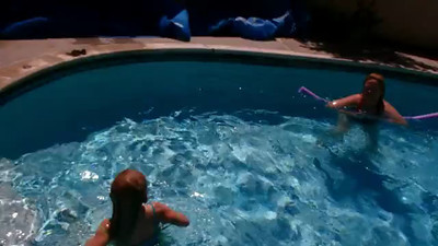 Video of Ashley swimming the length of the pool for the first time.