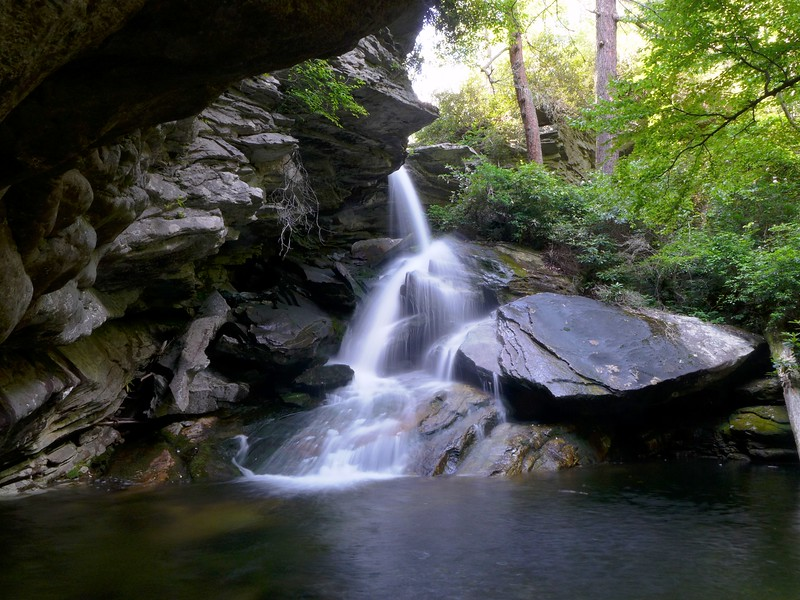 Another view of the swimming hole (and its drop dead gorgeous waterfall!!)