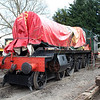 4-6-0 6984 'Owsden Hall' under restoration at Blunsdon Station car park    15/03/14