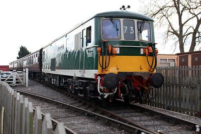 Class 73 E6003 (73003) 'Sir Herbert Walker' on a shuttle at Blunsdon   15/03/14