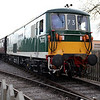 Class 73 E6003 (73003) 'Sir Herbert Walker' on a shuttle at Blunsdon   15/03/14