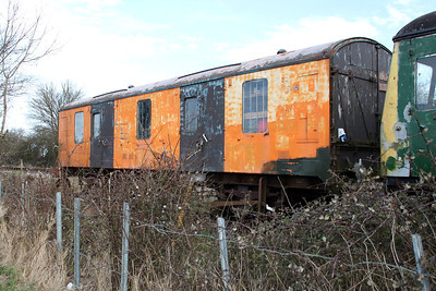 BR 4w CCT 94817 in sidings south of Blunsdon station   15/03/14