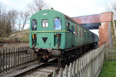 DEMU Class 206 1302 S60127_S60901 on a shuttle train at Blunsdon Station   15/03/14