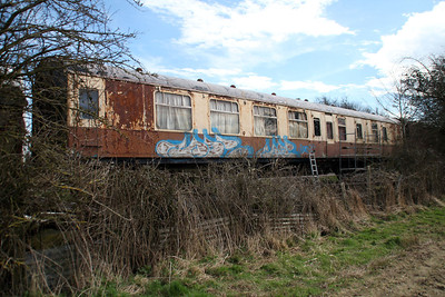 BR MK1 BSK 34634 in the sidings south of Blunsdon station   15/03/14