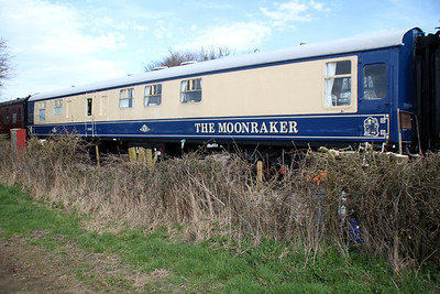 BR MK1 Buffet Kitchen 1569 'Moonraker' in the sidings south of Blunsdon station    15/03/14