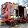 Unidentified LMSR 12t Vent Goods Van at Blunsdon Station car park under restoration   15/03/14