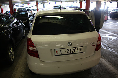 Our very underwhelming rental car....