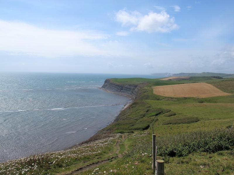 Looking along the Dorset coast towards Portland