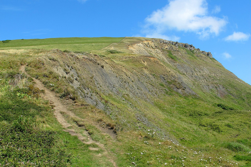 The descent (western side) of Houns-tout cliff
