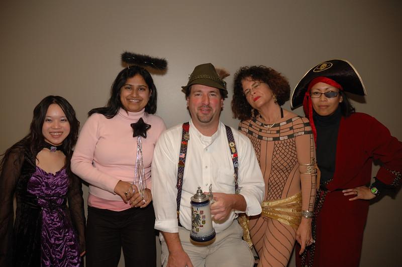 Group shot: Binh, Pooja, Mark, Tauny, and Muriel