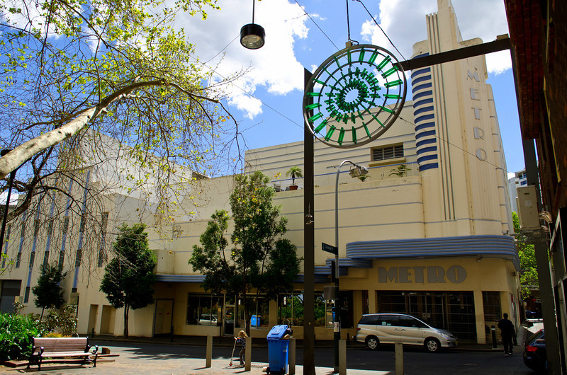 Classic art deco architecture<br /> Metro theatre, Kings cross