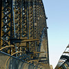 Sydney Harbour Bridge. Pedestrian walkway looking north
