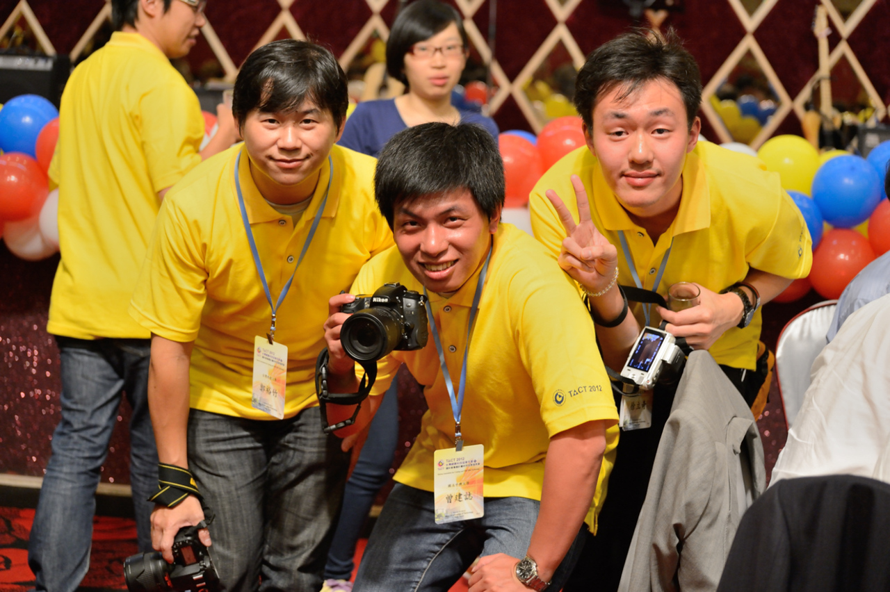 The trio of conference photographers
