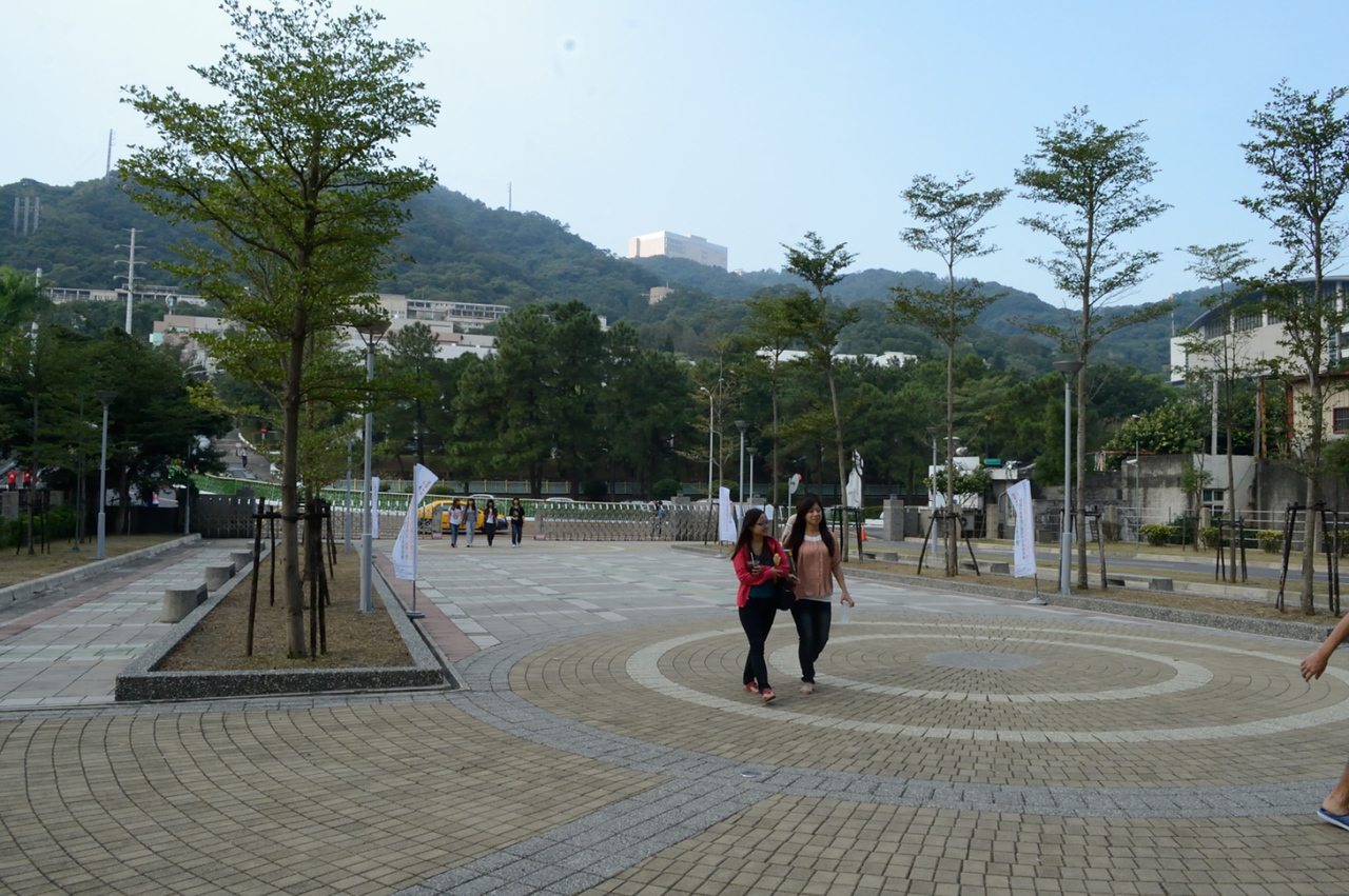 The campus is situated at the skirt of the  mountain at the edge of New Taipei City