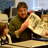 J.S.CARRAS/THE RECORD  during 'Take a Vet to School Day' Friday, November 8, 2013 at Bell Top Elementary School in North Greenbush, N.Y..