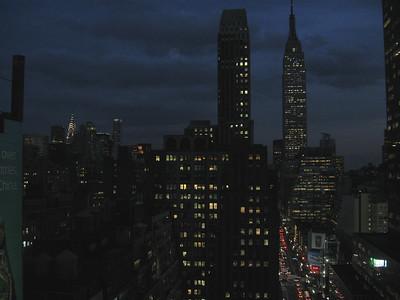 Night falls in NYC