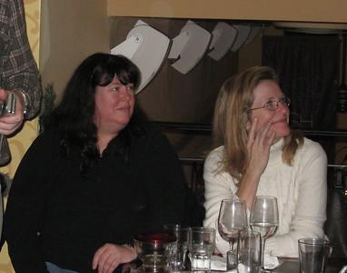 Bill's girlfriend Nathalia and Mark's wife Colleen.