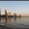 early morning tel aviv beach