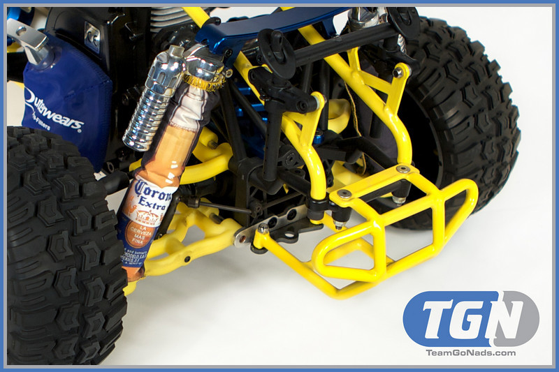 TGN Corona Crusher 5T. Custom made shock covers by Outerwears.