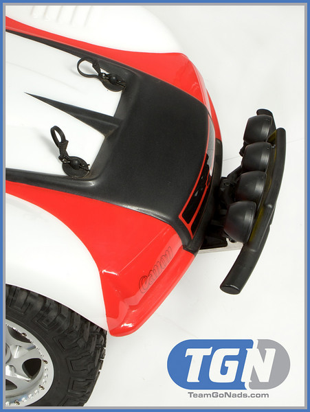 TGN Canon Racer 5T. Custom paint by CraftWerks-RC. Partial satin finish for a very special look.