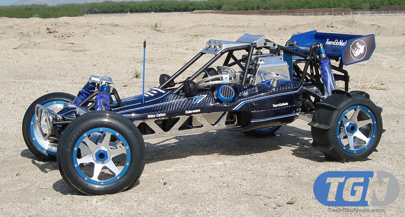 TGN Blue Rail. TGN's first true custome baja. One of the most seen bajas in the world. Seen in many magazines and trade shows world wide.