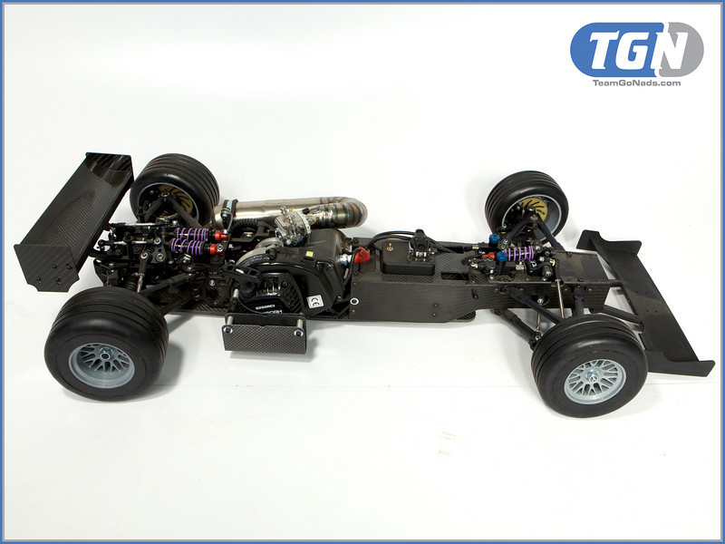 TGN F1 with full carbon chassis, titanium pipe and 4 wheel hydraulic brake system.
