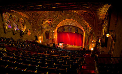 """The Alabama Theatre in downtown Birmingham was opened in 1927 and hailed as """"The Showplace of The South"""".  Indeed it is a splendid  walk back in time. Thanks to my friend Virginia Jones for making it possible to shoot this wonderful place."""