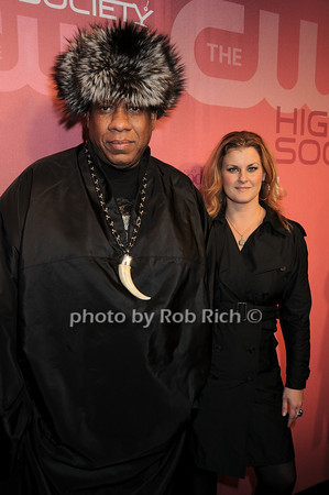 Andre Leon Talley, Joanna Konjevod<br /> all photos by Rob Rich © 2010 robwayne1@aol.com 516-676-3939