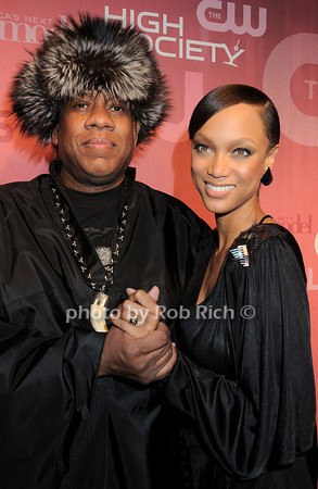 Andre Leon Talley, Tyra Banks<br /> all photos by Rob Rich © 2010 robwayne1@aol.com 516-676-3939