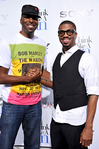 HOLLYWOOD John Salley and Sixx King arrives at The Pan Africa Film & Arts Festival Opening Night Premiere of Screen Gems THINK LIKE A MAN Thursday Night February 90th at the Arclight Cinerama Dome.(Photo by Valerie Goodloe)