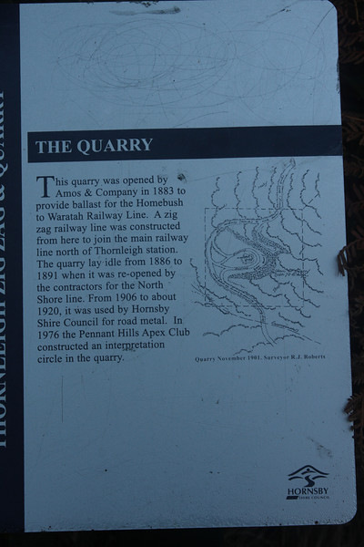 This plaque is positioned close to the quarry and defines the path of the Zig Zag,