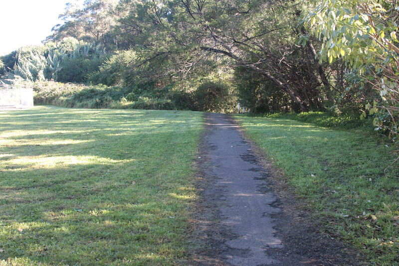 Follow this pathway to a wooden bridge over Zig Zag Creek where you will locate the old rail bed