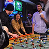 Ross Taylor and Melissa Lyttle challenge everyone else to Foosball