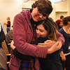 Jabin Botsford and Sam Owens embrace on the close of the workshop