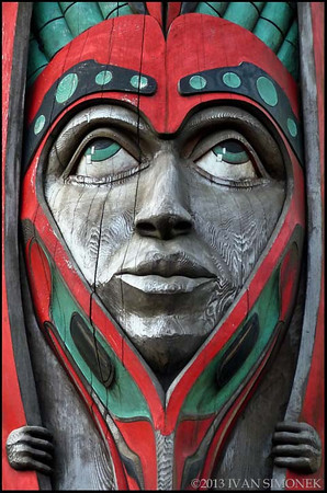 """TOTEM POLE 1"",Ketchikan,Alaska,USA."
