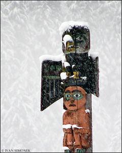 """COLD"",Eagle totem,Shakes island,Wrangell,Alaska,USA."