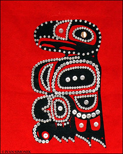 "'""BUTTONS"",a native design located at the Catholic church,Petersburg,Alaska,USA."