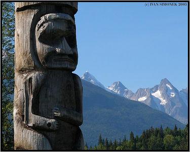 """GITWANGAK NATIVE RESERVE "",B.C.,Canada-----""INDIANSKA RESERVACE GITWANGAK "",B.K.,Kanada."