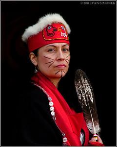 """""HAIDA WOMAN"",Wrangell,Alaska,USA."