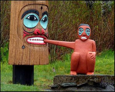 """""""OUCH...."""",Saxman totem park,Ketchikan,Alaska,USA."""