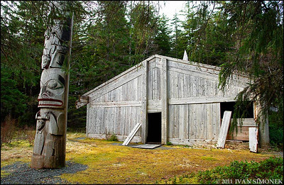 """TRIBAL HOUSE"",Kasaan,Alaska,USA."