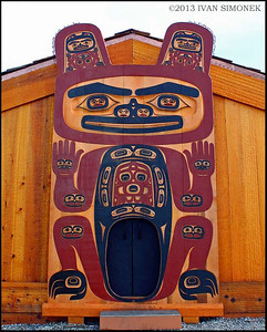"""RESTORED TRIBAL HOUSE"",Shakes Island,Wrangell,Alaska,USA."