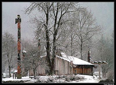 """SHAKES ISLAND, SNOWSTORM"", Wrangell, Alaska, USA.-----""OSTRUVEK SHAKES, VANICE""."