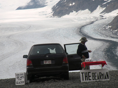 "Can't wait to visit ""The Bear man"" at Salmon Glacier"