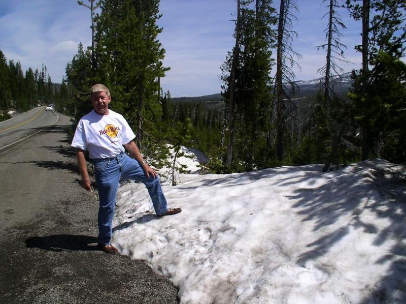 TETONS-----SNOW ON THE GROUND YEAR AROUND